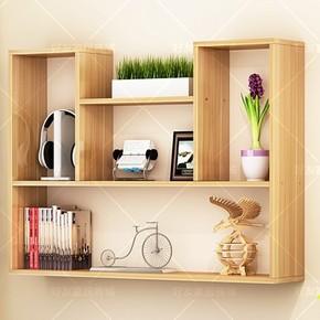 挂墙上格子创意壁柜悬挂书架置物书房卧室书柜墙壁挂客厅简易吊柜