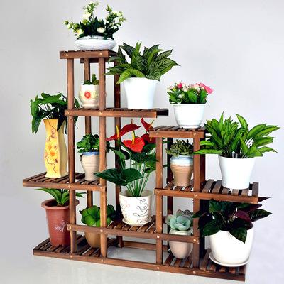 花架子实木制多层木质客厅室内阳台功能简约现代欧式木架木头梯形牌子口碑评测