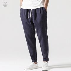亚麻棉长裤