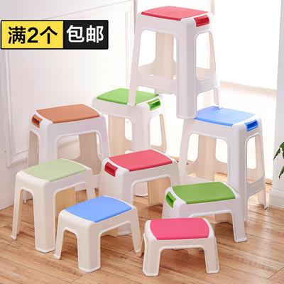 加厚儿童凳矮凳塑料凳子大小板凳方凳餐桌凳防滑凳换鞋凳成人脚凳