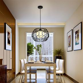 复式圆开关风格雕花吊灯浪漫家用灯唯美咖啡厅白光圆球卧室灯