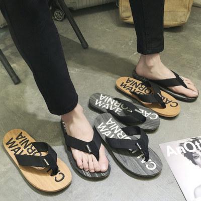 拖鞋男夏季凉鞋时尚室外穿夏天鞋凉拖韩版潮沙滩鞋个性人字拖男士