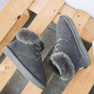 2017新款雪地靴女冬季保暖加绒韩版加厚面包棉鞋防滑学生棉靴女鞋