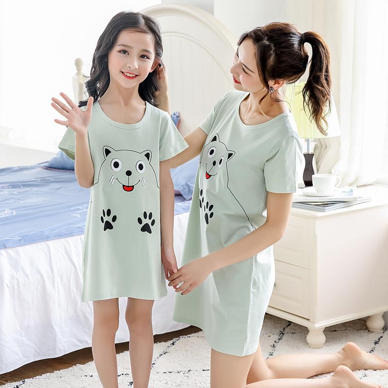 夏季薄款家居服儿童公主短袖T可爱纯棉