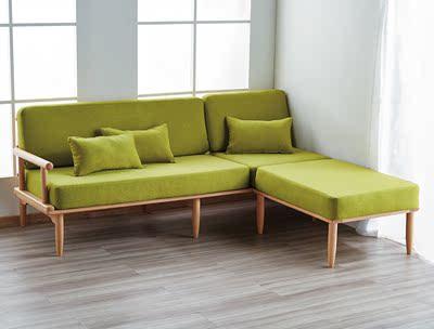 北欧客厅布艺沙发组合转角贵妃沙发现代简约小户型diy纯实木制作使用感受