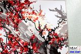Silk Embroidery Gift Decoration Painting Plum Blossom Red Plum Primula Figure Embroidered Soft Embroidered Finished Living Room Decoration Painting Promotion