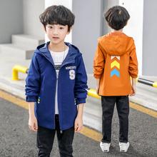 中大儿童小孩休闲印花上衣拉链衫 韩版 纯棉男童风衣外套春秋款 外穿
