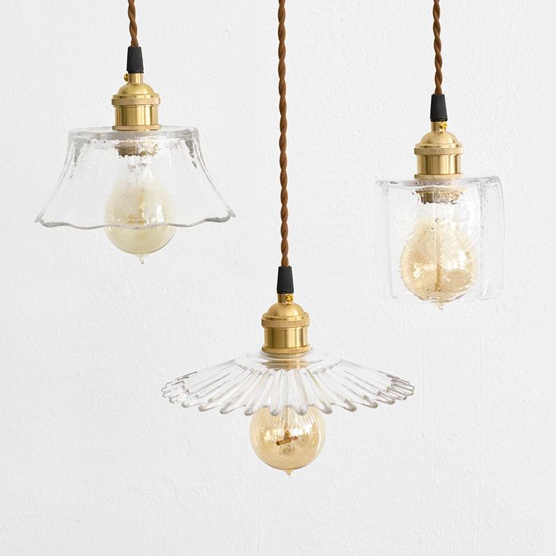 复古玻璃罩吊灯