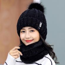 青年甜美可爱女士秋冬季针织帽百搭保暖 帽子女冬天加绒毛线帽韩版图片