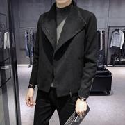 秋冬季风衣男短款韩版潮流帅气毛呢大衣2018新款青年休闲呢子外套