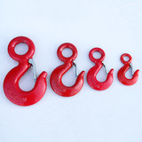 American ring eye hook cargo hook crane driving lifting sling sling eye hook alloy steel hook eye hook