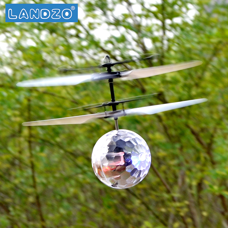 7 color color induction suspension crystal ball aircraft children mini remote control aircraft toy
