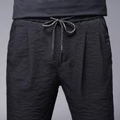 男裤子夏季男士超薄冰丝宽松长裤薄款运动男装韩版潮流夏天休闲裤