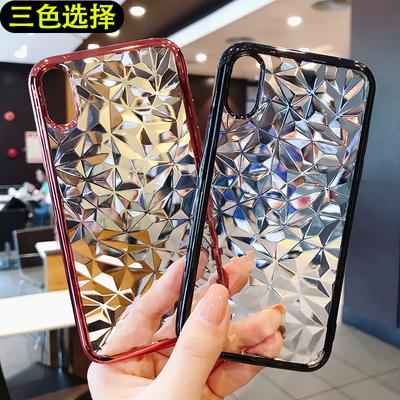 新款OPPO A5电镀手机壳A3S R15钻石纹R11S简约三段式软壳男女批发