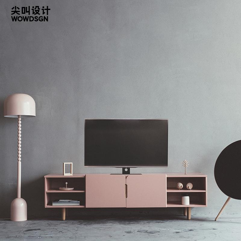 粉色电视柜