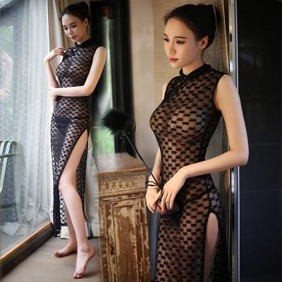 2018新款旗袍女连衣裙长款改良时尚复古修身显瘦气质旗袍裙写真夏