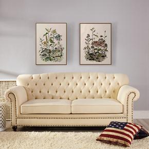 美式沙发床拉扣布艺三人沙发床小户型两用可折叠沙发床1.5米