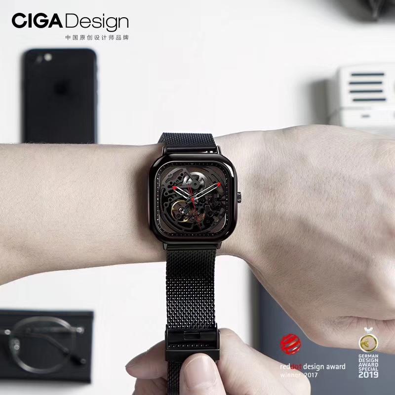 小米有品 CIGA Design玺佳手表全自动镂空机械表手表男方形机械表