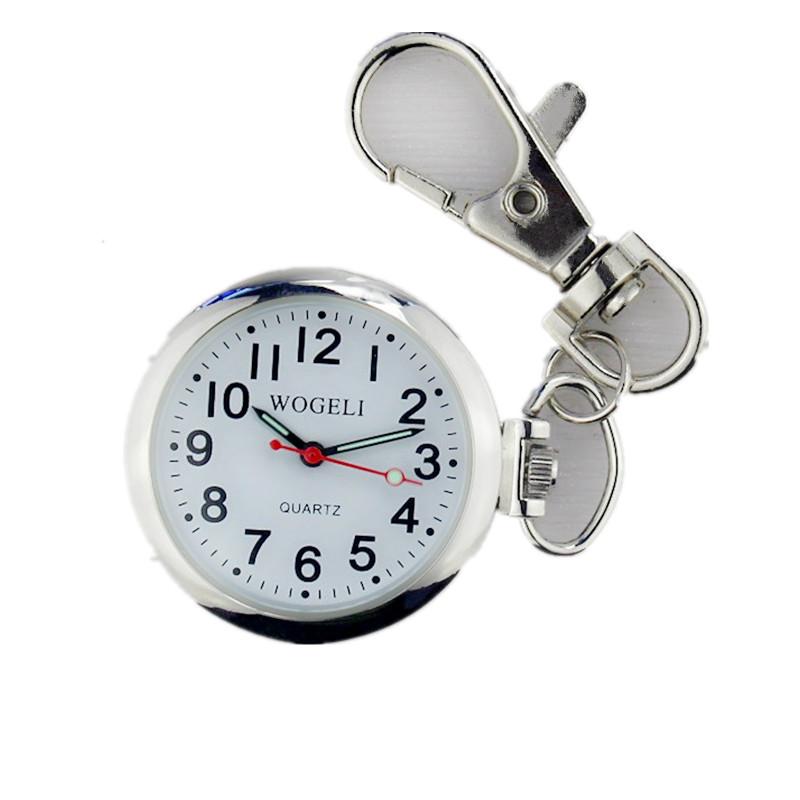 老人清晰大数字夜光怀表钥匙扣挂表学生考试用石英项链表护士表