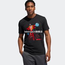 adidas阿迪达斯短袖男 漫威联名钢铁侠哈登篮球半袖运动T恤DU6717