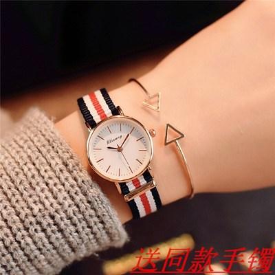 女生帆布手表