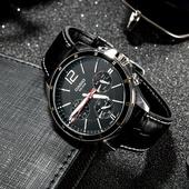 手表真皮表带商务指针手表学生 卡西欧casio日本男士 1374L MTP