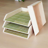 Bamboo wood dumplings, tray, refrigerator, freezer, frozen, stackable dumplings, buffet, dumplings, dumplings