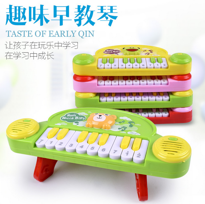 Children's educational cartoon electric piano electric table small piano puzzle music sound and light early education