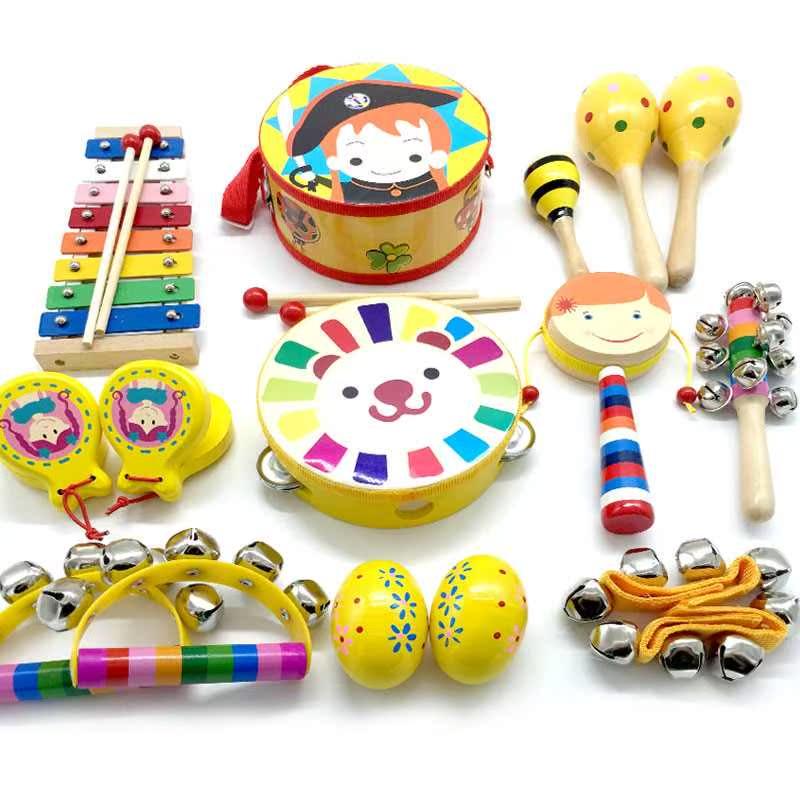 礼物婴幼儿拨浪鼓手摇铃套装0-1岁玩具宝宝乐器3-6-12个月新生益