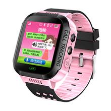 儿童电话手表学生智能手环可插卡防水定位男孩女孩公主可爱小手机
