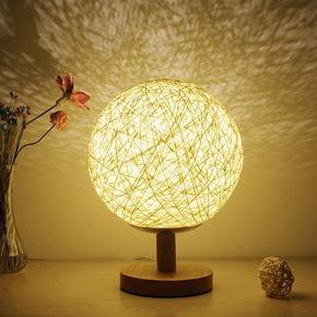 简约现代台灯卧室床头灯创意浪漫小夜灯插电创意梦幻迷你节能护眼