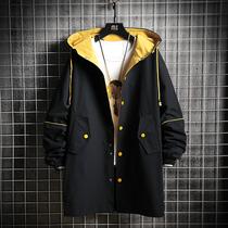 外套宽松显高显瘦中长款百搭双排扣风衣男潮chic韩版秋季设计师款