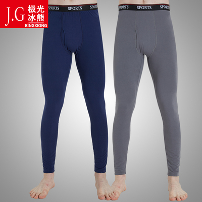 2件装男士秋裤薄款单件中老年青少年学生保暖裤衬裤线裤毛裤宽松