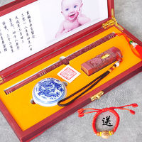 Hair made to order baby brush diy self-made baby birth hand and foot print umbilical cord chapter commemorative set box tire seal