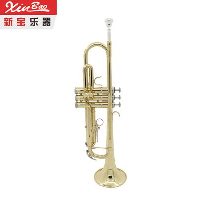 新宝小号铜管乐器漆金xinbao小号乐器初学业余送牛津包TR-300性价比高吗