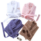 The hotel cotton toweling bathrobes long section of men and women couple quick-drying summer and winter to increase the thick absorbent bathrobe gown