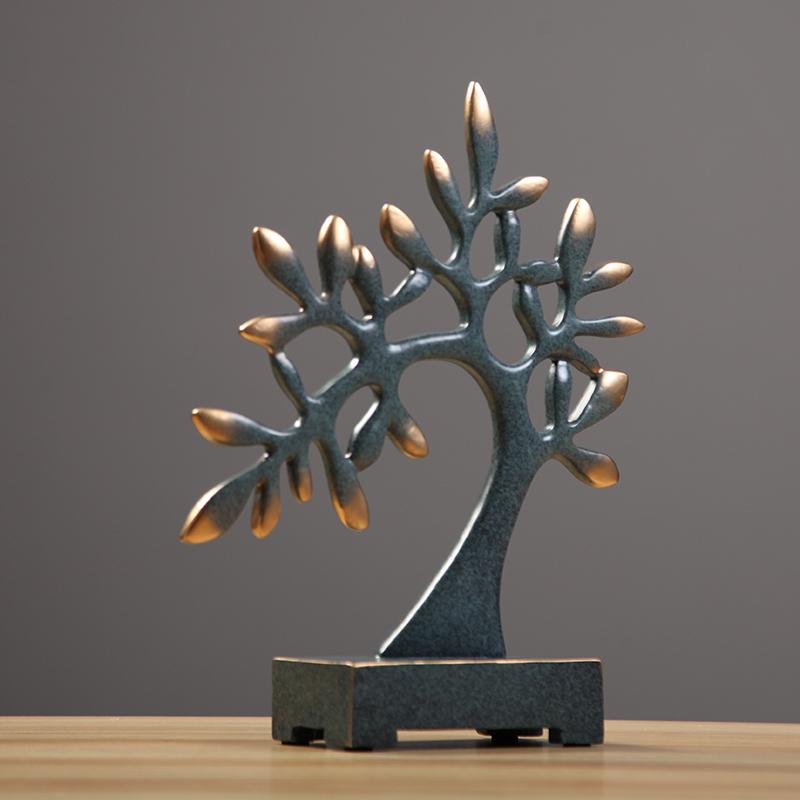 时代印象发财树摆件电视柜