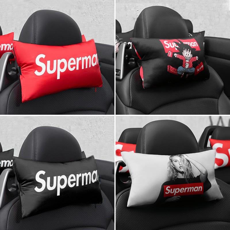汽车头枕腰靠套装车用骨头枕车载护颈枕车内座椅靠枕枕头装饰用品