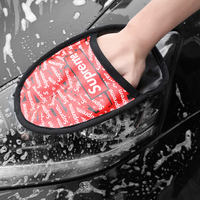 Tide brand chenille car wash gloves waterproof and durable coral cleaning gloves rag car cleaning special tools