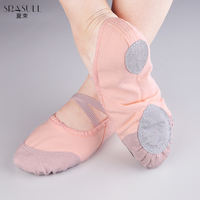 Summer bundle belly dance shoes female ballet dance practice shoes baotou canvas dance shoes cat claws soft bottom dance shoes adult