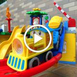 Tomas train set railcars electric compatible LEGO puzzle children's toy boy 3456