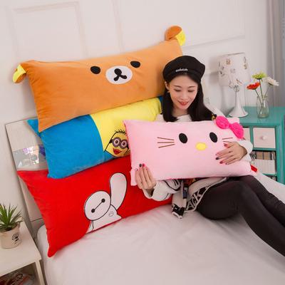 枕头可爱抱枕长条枕卡通可拆洗布朗熊情侣成人枕头长款睡觉抱枕
