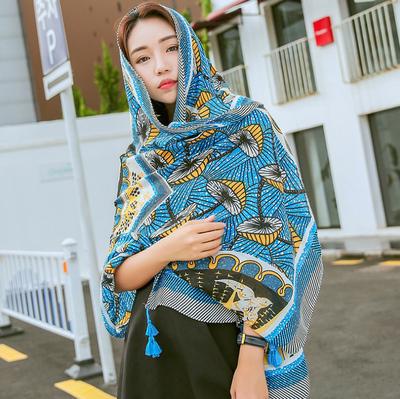 夏季新款韩版拼色菱形几何防晒防晒沙滩巾海边度假旅游大披肩围巾