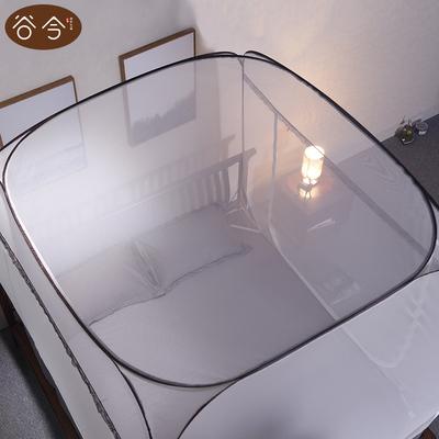 谷今蒙古包蚊帐1.2米床方顶免安装加密加厚1.5/1.8m床双人家用