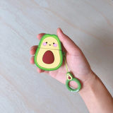 Ins wind avocado airpods protective sleeve cute three-dimensional Apple Bluetooth headset shell soft strap lanyard girl heart