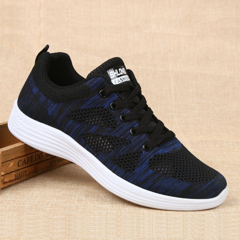 老北京布鞋男网鞋中老年轻便软底运动鞋夏季透气防滑健步鞋跑步鞋