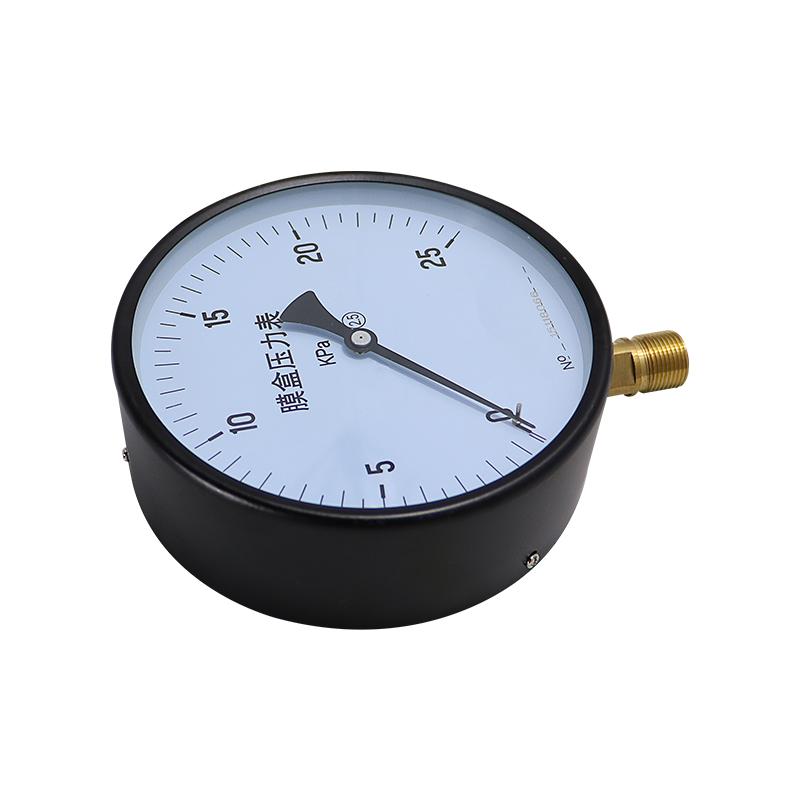 膜盒压力表YE150 微压表天然气压表煤气表 千帕表1.6~60KPa可定制