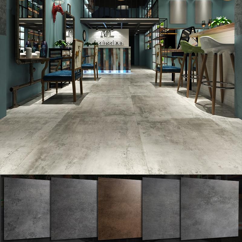 浅灰色阳台复古瓷砖仿古砖800x800水泥砖地板砖600x600户外地砖