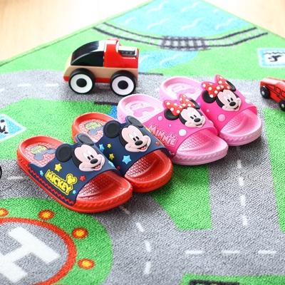 迪士尼拖鞋 夏季儿童凉拖鞋 中大童成人亲子卡通可爱米奇托鞋防滑