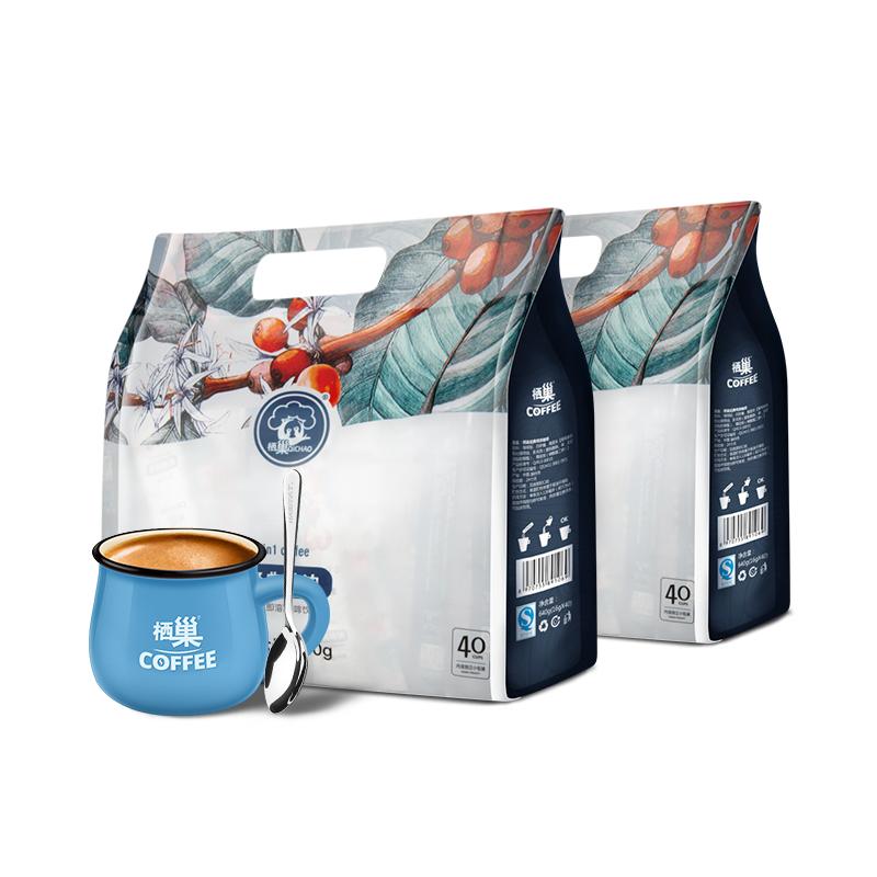 拍2送杯勺 栖巢特浓三合一袋装速溶咖啡粉16g*40包 即冲大袋饮品